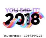 congratulations graduates class ... | Shutterstock .eps vector #1059344228