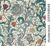 floral seamless vector pattern...   Shutterstock .eps vector #1059348068