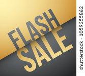 flash sale design | Shutterstock .eps vector #1059355862