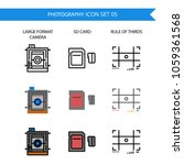 photography icon set.large... | Shutterstock .eps vector #1059361568