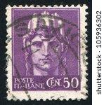 italy   circa 1929  a stamp... | Shutterstock . vector #105936302