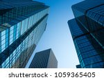 low angle view of skyscrapers... | Shutterstock . vector #1059365405