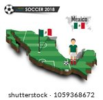 mexico national soccer team .... | Shutterstock .eps vector #1059368672