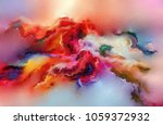 abstract colorful oil painting... | Shutterstock . vector #1059372932