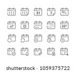 minimal set of calendar and... | Shutterstock .eps vector #1059375722