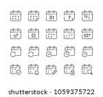 minimal set of calendar and... | Shutterstock .eps vector #1059375722