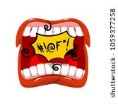shout swearing words in speech... | Shutterstock .eps vector #1059377258