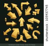 arrows doodle set | Shutterstock .eps vector #105937745