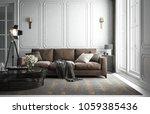 interior living room studio ... | Shutterstock . vector #1059385436