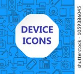device outline icons set.... | Shutterstock .eps vector #1059386045