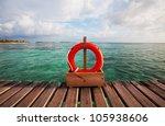 Maldives scene - stock photo