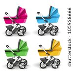Colored Strollers For Baby Boy...
