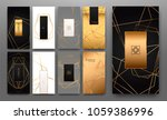 gold collection of geometrical... | Shutterstock .eps vector #1059386996