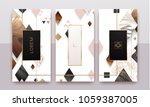 gold  rose gold  black and... | Shutterstock .eps vector #1059387005