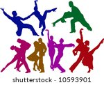 rumba couples | Shutterstock .eps vector #10593901