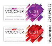 gift voucher template  vector | Shutterstock .eps vector #1059395372