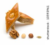 Baklava And Nuts. East Sweets...