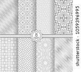 set of vector seamless models.... | Shutterstock .eps vector #1059396995