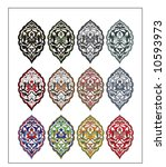 traditional ottoman turkish... | Shutterstock .eps vector #10593973