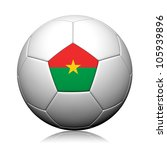 Burkina Faso Flag Pattern 3d rendering of a soccer ball - stock photo