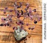 crystal stone gemstone tree on... | Shutterstock . vector #1059413342