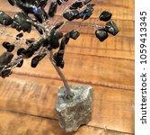 crystal stone gemstone tree on... | Shutterstock . vector #1059413345