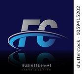 initial letter fc logotype...   Shutterstock .eps vector #1059415202