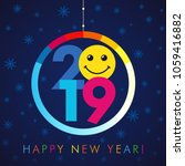 2019 a happy new year xmas... | Shutterstock .eps vector #1059416882