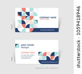 business card abstract... | Shutterstock .eps vector #1059418946