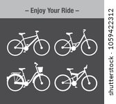 white bikes collection  flat... | Shutterstock .eps vector #1059422312