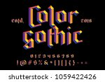 color gothic alphabet. bright... | Shutterstock .eps vector #1059422426