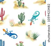Watercolor Seamless Pattern Of...