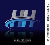 initial letter hh logotype...   Shutterstock .eps vector #1059423752