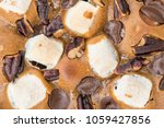 chocolate brownies close up.   Shutterstock . vector #1059427856