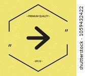 arrow next icon   Shutterstock .eps vector #1059432422