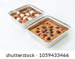 chocolate brownies with...   Shutterstock . vector #1059433466