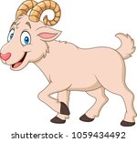cartoon funny goat isolated on... | Shutterstock .eps vector #1059434492