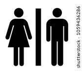 toilet icon great for any use.... | Shutterstock .eps vector #1059436286
