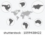 world map vector icon with... | Shutterstock .eps vector #1059438422