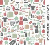 seamless vector background with colorful shopping icons   Shutterstock vector #105944246