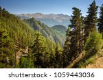 landscape of caucasus mountains ... | Shutterstock . vector #1059443036