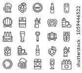 set of linear beer icons... | Shutterstock .eps vector #1059446522
