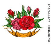 roses. floral design element.... | Shutterstock .eps vector #1059447905