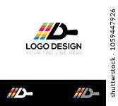paint company logo design... | Shutterstock .eps vector #1059447926