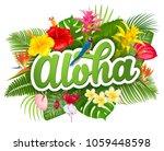 Aloha Hawaii Hand Drawn...