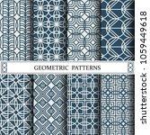 circle geometric vector pattern ... | Shutterstock .eps vector #1059449618