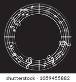 music note background with... | Shutterstock .eps vector #1059455882
