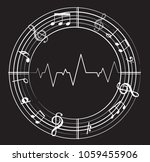music note background with... | Shutterstock .eps vector #1059455906