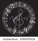music note back ground with...   Shutterstock .eps vector #1059455918