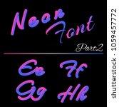 3d neon led font. liquid matte... | Shutterstock .eps vector #1059457772